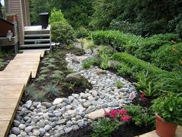 River Rock Garden Bed Create A Creek Bed With River Rock Click Image To Find More