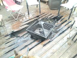 Firepit Pad Pit Pits On Wood Decks You Can Still Burning Pit