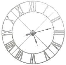 designer kitchen clocks large pale grey distressed contemporary skeleton metal wall clock