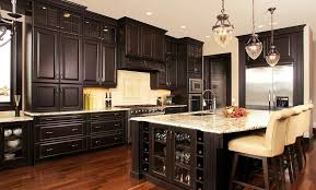 black stain on kitchen cabinets kitchen stained kitchen cabinets creative on in