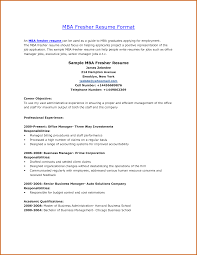 fresher resume for mba resume for your job application