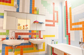 bathroom ideas kids bathroom decor tiles with two under mounte