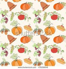 thanksgiving seamless pattern can be used stock vector 478206643
