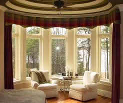Types Of Curtains For Living Room Decorating Traditional Dining Room Design With Elegant Bay Window