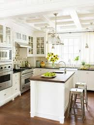 White Beadboard Ceiling by Coffered Ceilings Black Granite Countertops Cafe Curtains And