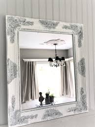 Shabby Chic Bathroom Cabinet With Mirror by Shabby Chic Mirror Large Mirror Bathroom Mirror Vanity