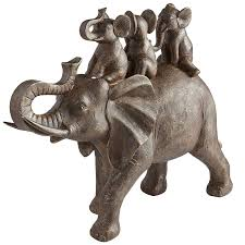 elephant statue elephant with babies pier 1 imports