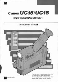 canon camcorder uc 15 user guide manualsonline com