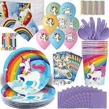 unicorn party supplies unicorn party supplies 16 guests plates cups napkins