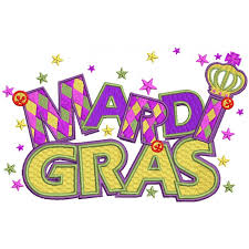 mardi gras banner gras banner with filled machine embroidery design digitized