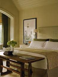 Earthy Room Decor by Great Table At Foot Of Bed Monogrammed Headboard Simple Yet