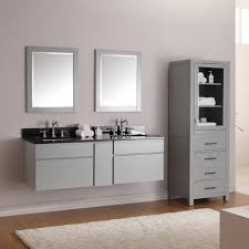 Bathroom Wall Mount Cabinet Bathroom Modern Double Bathroom Vanities With Grey Wall Mounted