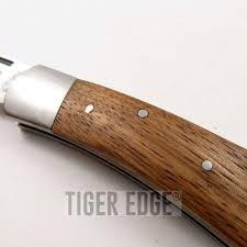 folded steel kitchen knives folding pocket knife burl wood stainless steel blade lockback