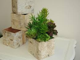 Log Vases Unique Wedding Flower Vases With Birch Bark Vases Planter Wedding