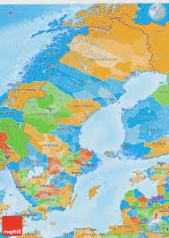 Map Sweden Political 3d Map Of Sweden