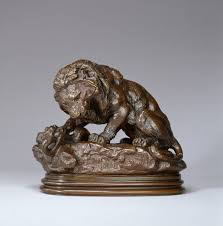 barye lion sculpture file antoine louis barye lion and serpent no 2 walters 2792