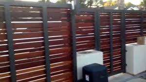 contemporary wood fence and gate culver city california youtube