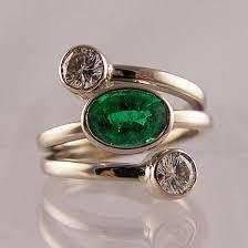 emerald rings uk emerald diamond strand ring ring jewellery