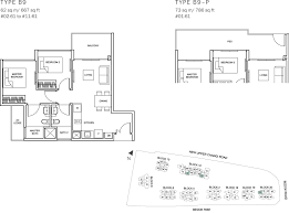 50 Sqm To Sqft by The Glades Condo Floor Plan 2br Suite B9 62 Sqm 667 Sqft B9