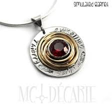 all round necklace images Round necklace with stone and names or text silver and gold or jpg