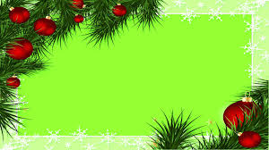 christmas border green screen youtube
