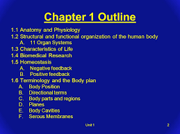 Human Anatomy And Physiology Chapter 1 Chapter 1 The Human Organism Unit 11 Chapter 1 Outline 1 1