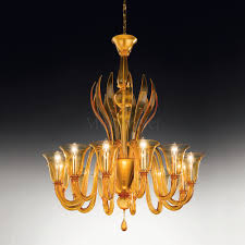 Amber Chandelier Rialto 5 Lights Chandelier In Murano Glass Muranonet Online Store