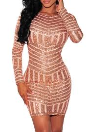 sexiest new years dresses golden geometric sequin print backless new year party bodycon