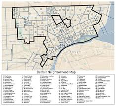 Boston Neighborhood Map by Loveland U0027s Detroit Neighborhoods Map Detroitography