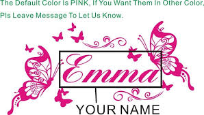 personalized name customer butterflies wall decal