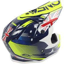 motocross helmets australia oneal new 2017 mx 7 series evo australia dirt bike blue yellow