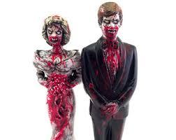 Zombie Bride Groom Halloween Costumes Zombie Wedding Etsy