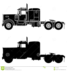 kenworth w900 model truck silhouette of a truck kenworth w900 stock illustration image