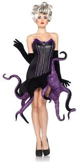 Mermaid Halloween Costume Adults Movie Mermaid Disney Villains Ursula Evil Witch