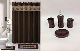 Amazon Bathroom Accessories by Amazon Com 22 Piece Bath Accessory Set Chocolate Brown Bathroom