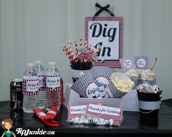 Black And Red Party Decorations Retro Red Black White Party Decorations 16 Free Printables By