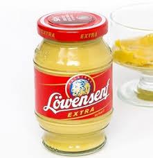 lowensenf mustard löwensenf hot german mustard in a glass its the