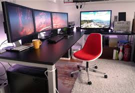 L Gaming Desk L Shaped Desk With Plenty Of Real Estate Megadesks Pinterest