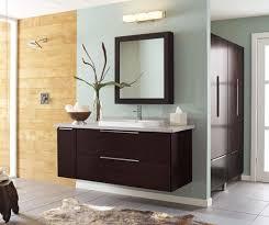 espresso wall mounted vanity cabinet in the bathroom with medicine