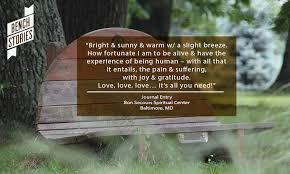 thoughts on gratitude via benchstories nature sacred