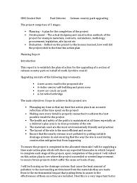 hnc graded unit planning stage paul osborne environmental impact