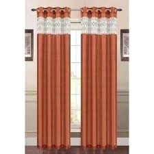 Chocolate Curtains Eyelet Orange Drapes Chocolate Orange Eyelet Curtains Rust Drapes Window