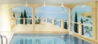 Trompe L Oeil Wallpaper by Trompe O U0027loeil Painting By The Pool Smart Art Airbrush Design