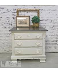 amazing deal on end table nightstand distressed white cottage