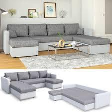 sofa grau weiãÿ ecksofa mit schlaffunktion weiß grau wohnlandschaft schlafsofa