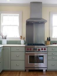 Light Blue Kitchen Backsplash by Small Kitchen Design And Decoration Using Light Blue Tile Kitchen