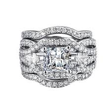best platinum rings images Best promise engagement ring for her bridal set 3pcs jpg