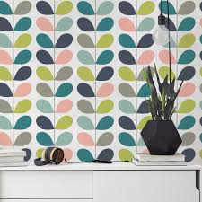 20 Best Removable Wallpapers Peel by Mid Century Leaves Wallpaper Leaves Mid Century Modern