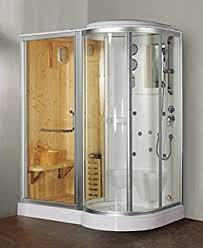 sauna in bagno cabina e vasca idromassaggio 165x100 optional con box doccia