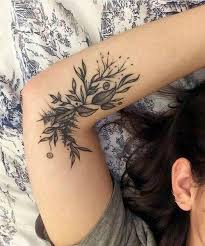 gorgeous inner arm floral tattoos for